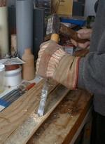 decouper le tronc du bambou pour realiser une canne en. Black Bedroom Furniture Sets. Home Design Ideas
